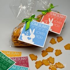 "This is so cute! This free printable tag for Easter lets your child know ""Somebunny Loves You"". It would also work great as a valentine for friends and classmates at school."