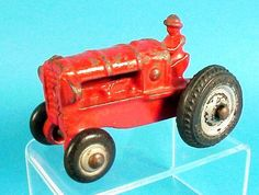 icollect247.com Online Vintage Antiques and Collectables - Cast Iron Arcade Tractor Toy 3 Toys-Cast Iron