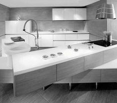 Black White Kitchen5 Minimalist Black U0026 White Kitchen Design By Futura  Cucine | Black And White Kitchens | Pinterest | Minimalist