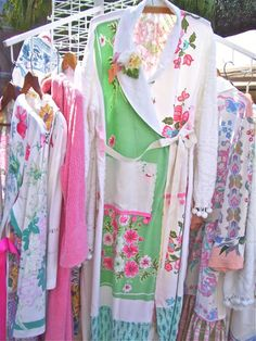 The Polka Dot Closet - bathrobes from vintage table cloths and bedspreads