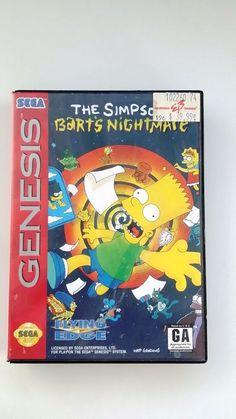 SIMPSONS  BART'S NIGHTMARE (SEGA GENESIS 1993)