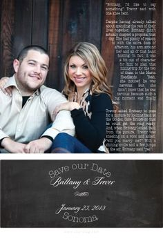 Storytag can write your proposal story and make an exclusively designed Save the Date card.