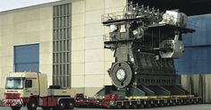 This is the world's largest diesel engine, the Wärtsilä-Sulzer Measures 89 feet in width and weighs around tons. It is also the world's most powerful engine to run on diesel with Motor A Diesel, Motor A Gasolina, Soichiro Honda, Reactor, Oil Tanker, Monster Trucks, Combustion Engine, Heavy Machinery, Industrial Machinery