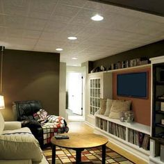 living spaces, home theaters, cozy homes, old windows, shelving units, old houses, small spaces, basement idea, bonus rooms