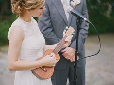 Ukulele wedding | music, bridal, beautiful, performance, dress