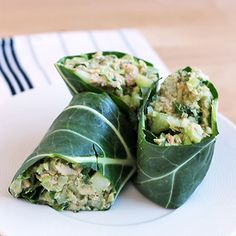 5 brown-bag lunches to spice up your midday meal (like Tuna Salad Collard Wraps!). #healthyrecipes #lunchrecipes #everydayhealth | everydayhealth.com