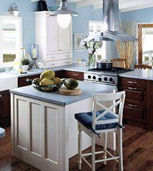 classic blue kitchen paint color The Most Ideal Paint Colours For Your New Kitchen In 2014 Blue Kitchen Interior, Blue Country Kitchen, Blue Kitchen Designs, Blue Kitchen Cabinets, Maple Cabinets, Kitchen Cabinet Design, Kitchen Decor, Kitchen Ideas, Kitchen Walls