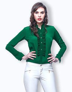 Crisp Pleats Shirt - Emerald Online
