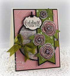Card by Julee Tilman using Poppy Birthday from Verve. #vervestamps