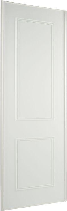 Contemporary White Sliding Wardrobe Door (H)2.22 M (W)762 mm | Rooms | DIY at B&Q