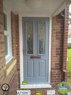 Every Solidor Timber Composite Door comes fitted as standard with Ultion 3 Star Diamond Sold Secure Locks, fully fitted with 12 months Credit Cottage Front Doors, Grey Front Doors, House Front Door, Painted Front Doors, Front Entry, Front Porch, Addison House, Smart Door Locks, Door Fittings