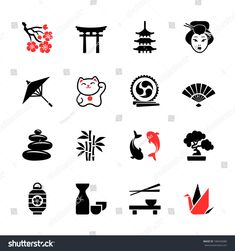 Illustration about Japan travel web icons collection. Illustration of arch, cherry, food - 39377003 Japanese Drawings, Japanese Artwork, Japanese Tattoo Designs, Japanese Tattoo Art, Japanese Theme, Japanese Symbol, Mini Tattoos, Small Tattoos, Icon Set