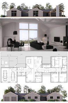 Modern Farmhouse Plans, Home Plans, House Plans, New Homes, Floor Plans Dream House Plans, Modern House Plans, Small House Plans, Modern House Design, House Floor Plans, Shed Homes, Architecture Plan, House Layouts, Planer