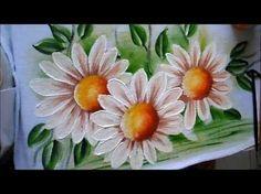 Pintura em tecido Eliane Nascimento: Como eu pinto Margaridas - YouTube