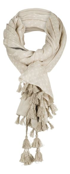Sandwich Scarf with Dots Fringes and Tassels £35 at www.lbdboutique.co.uk style number 1521400422