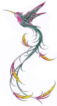 Hummingbird and flower pencil drawing google search for Hummingbird hip tattoo