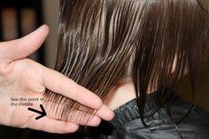 Cutting girl's hair