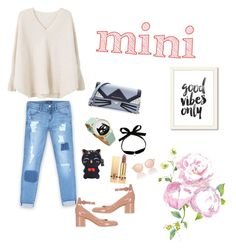 """""""mini bag ,,,love cat ❤"""" by nurardisa ❤ liked on Polyvore featuring Karl Lagerfeld, MANGO, Bebe, Gianvito Rossi, Mateo, Yves Saint Laurent and Le Specs"""