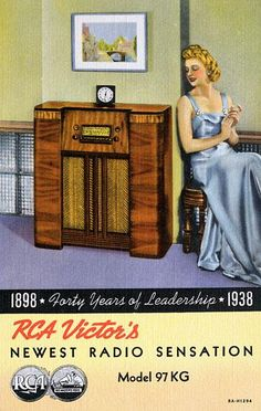 RCA Victor's became the one item young and a newly wedded would buy these first. Nice ad.