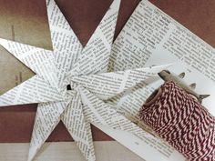 Lag din egene papirstjerner til jul! Nedenfor finner du instruksjoner for å brette en åttekantet papirstjerne. Du trenger: Åtte kva