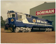 Locomotive named Boodarie built for BHP Iron Ore at Goninan works in Bassendean, 22 July 1991 Wa Gov, Iron Ore, Western Australia, Locomotive, Trains, It Works, Building, Buildings, Locs