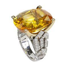 Canturi Yellow Sapphire and Diamond Ring by Stefano Canturi