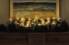 Make your own birch log candle holders via Lifeovereasy - http://lifeovereasy.com/diy-birch-log-candleholders/