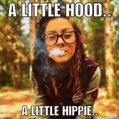 A little hood. . A little hippie