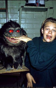 Leonardo DiCaprio on the set of his 1st film Critters 3 (1991) | Everyone has to start somewhere. Get your start in the film industry at filmzu.com