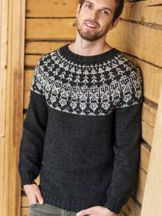 Miehen neulepusero Owl Sweater, Fair Isle Knitting, Stockinette, Pullover, Knit Patterns, Types Of Shirts, Aurora, Graphic Sweatshirt, How To Wear