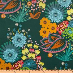 Anna Maria Horner LouLouThi Velveteen Summer Totum Emerald Item Number: EZ-217 Our Price: $19.98 per Yard