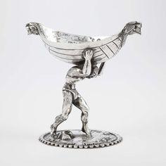 Continental Silver Master Salt, 18th/19th century.