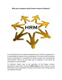 Why your company needs human resource software? Hr Management, Life Cycles, Human Resources, Software