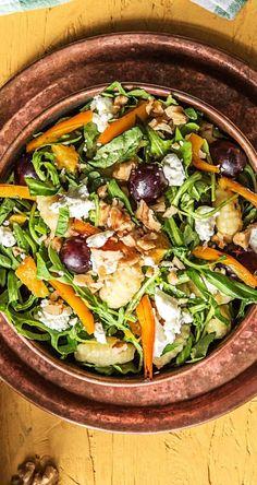 Step by Step Rezept: Lauwarmer Gnocchi-Salat mit Weintrauben und Feta Rezept / Kochen / Essen / Ernährung / Lecker / Kochbox / Zutaten / Gesund / Schnell / Frühling / Einfach / DIY / Küche / Gericht / Wintersalat / 25 Minuten / Veggie / Vegetarisch / Italienisch / Mediterran #hellofreshde #kochen #essen #zubereiten #zutaten #diy #rezept #kochbox #ernährung #lecker #gesund #leicht #schnell #frühling #einfach #küche #gericht #veggie #vegetarisch #gnocchi #italienisch #salat
