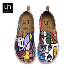 UIN Charming Cat Painted Canvas Women Flats Colorful Art Shoes Ladies Round Toe Slip-on Loafers Outdoor Walking Comfort Shoes Chocolate Design, Hot Chocolate, Basket Originale, Loafer Shoes, Loafers, Zapatillas Slip On, Moda Sneakers, Espadrilles, Canvas Slip On Shoes