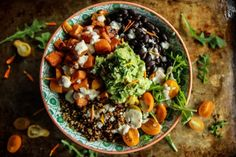 Cuban Quinoa Bowl with Spicy Lemon Cashew Dressing | via Heather Christo
