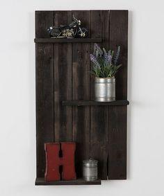 Another great find on #zulily! Black Three-Tier Wall Shelf by DelHutson Designs #zulilyfinds