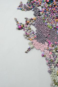 Large Scale Organic Installations Made From Bright Balls Of Fabric   Serena Garcia Dalla Venezia
