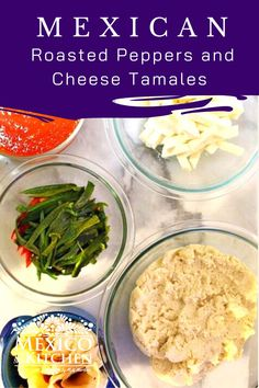 The mellow flavor of the Queso Fresco makes a perfect match with the spiciness and smoky flavor of the roasted Poblano peppers. Not everyone fills them with Poblano peppers, though, as some cooks use Serrano or jalapeño peppers. I used Queso Fresco in this recipe. Tamales de Rajas Con Queso. #mexicanfood #mexicanrecipes #homecook #foodrecipes #tamalesrecipes #tamalesderajas Roasted Poblano Peppers, Stuffed Poblano Peppers, Sweet Tamales, Queso Fresco Cheese, Green Salsa, Pozole, Gluten Free Chicken, Perfect Match, Mexican Food Recipes