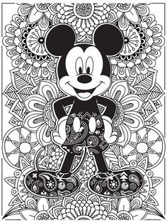 Celebrate National Coloring Book Day with Disney Style | Mickey Mouse coloring page