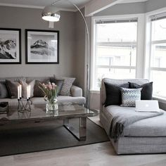 Déco salon gris : 25 exemples inspirants | Salons, Living rooms ...