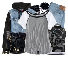 """""""Conjunto #794"""" by laarochaa ❤ liked on Polyvore featuring H&M, Hollister Co., Eos, Juicy Couture and American Eagle Outfitters"""