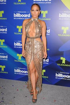 Jennifer Lopez: The singer dared to bare Thursday in a revealing fishnet dress at the Billboard Latin Music Awards in Florida. Sexy Outfits, Sexy Dresses, Nice Dresses, Jennifer Lopez Feet, Pictures Of Jennifer Lopez, Janet Jackson Videos, Fishnet Dress, Latin Music, Celebrity Red Carpet