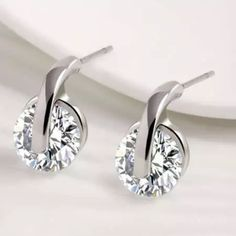Swarovski Crystal Earrings Perfect size Crystal earrings for everyday. New in gift box. Jewelry Earrings