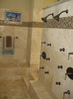 This is so cool- a huge sunken bathtub/shower?  I wonder if we should do another bathroom redesign on the house plans...