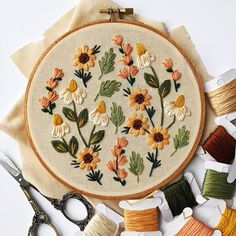 Summer Wildflowers Embroidery Kit DIY embroidery DIY home decor craft kit flower embroidery floral embroidery pattern Embroidery Embroidery Hoop Crafts, Floral Embroidery Patterns, Couture Embroidery, Hand Embroidery Designs, Vintage Embroidery, Embroidery Kits, Hungarian Embroidery, Embroidery Stitches, Diy Embroidery Shoes