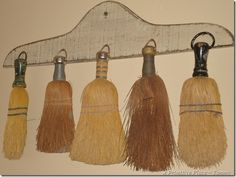 love these old little brooms