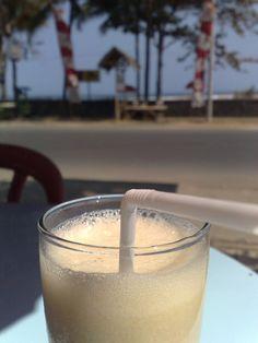 Banana and manuka honey smoothie-I'm substituting unsweetened vanilla almond milk for the apple juice.