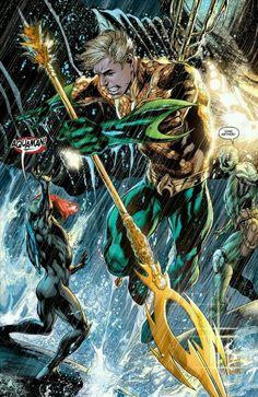 Aquaman vs Black Manta by Ivan Reis #aquaman #ivanreis #blackmanta
