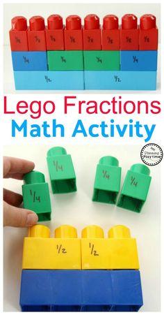 Lego Fractions Math Activity for Kids. So fun! Mehr zur Mathematik und Lernen allgemein unter zentral-lernen.de